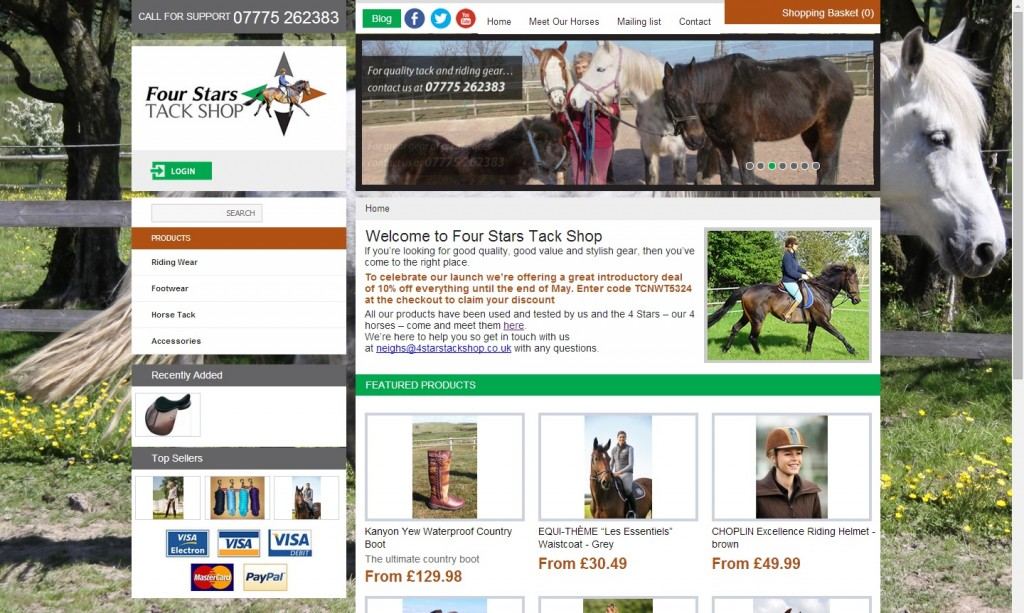 Creating Media work - Four Stars Tack Shop
