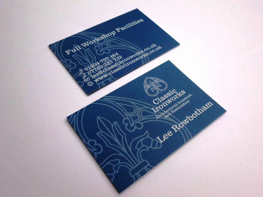 Classic Ironworks 600gsm business cards