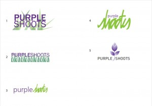 Purple Shoots Logo Concepts