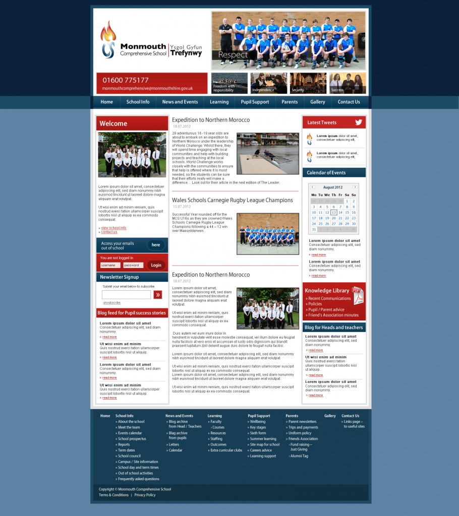 Monmouth Comprehensive School Website