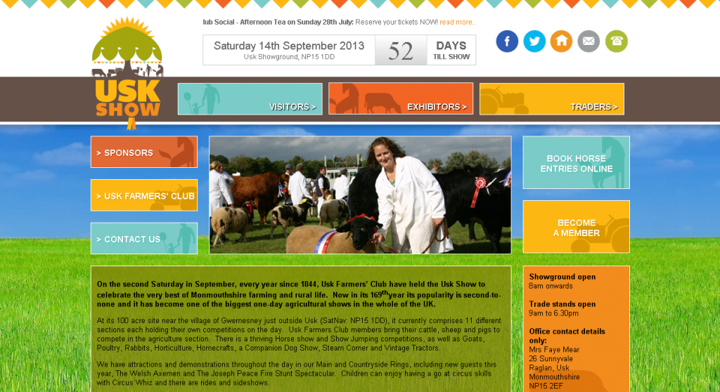 Usk Show, Monmouthshire Rebrand and Website